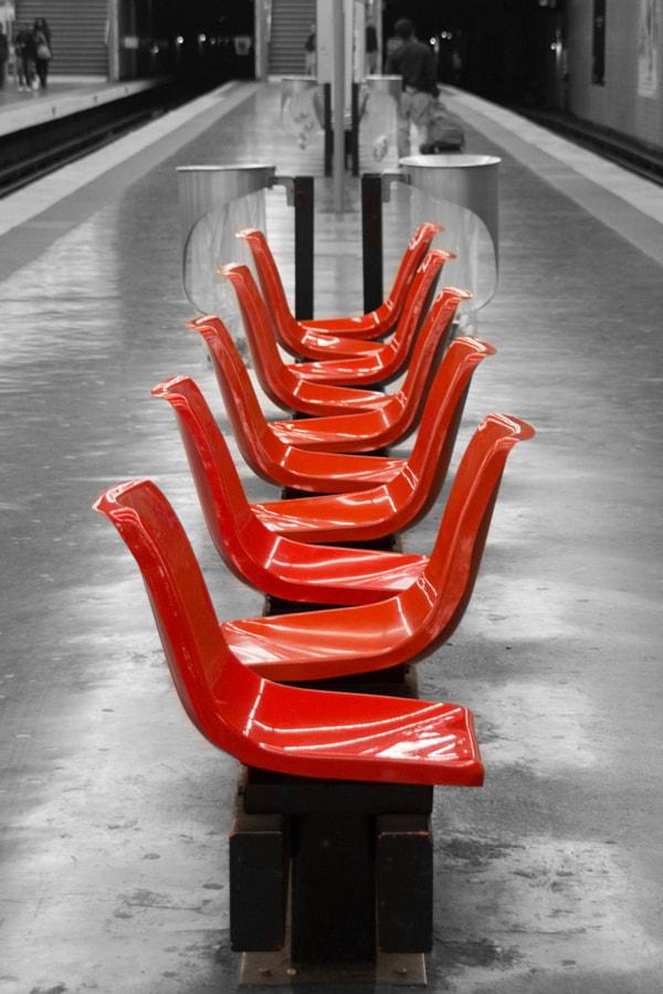 Quai de métro (Subway plaform) de Christine Druesne sur 500px.com