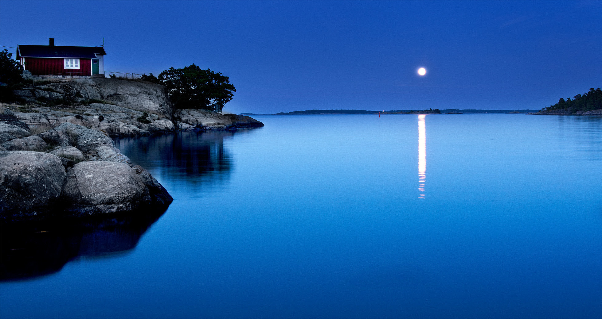 Photograph Moon over the Archipelago by Mikael Sundberg on 500px