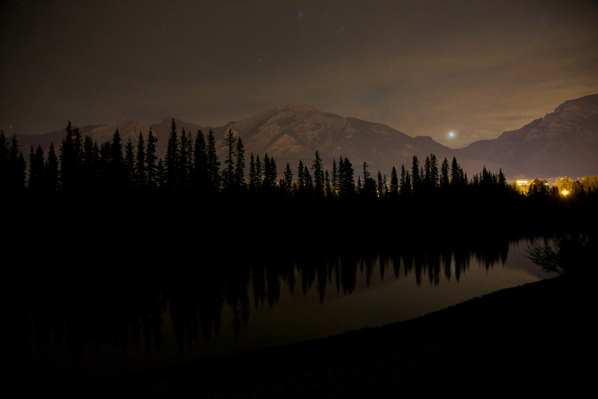 Photograph Canmore at night by Landon Ketterer on 500px