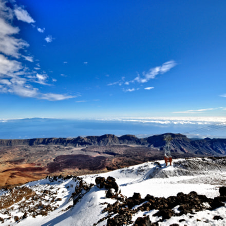 looking down from mount Teide