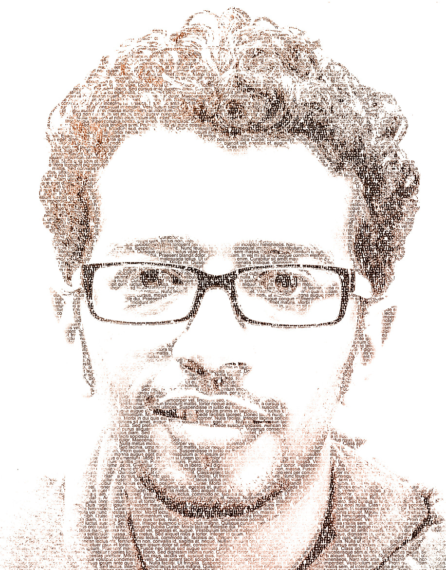 Photograph PORTRAIT made only of TEXT by abduaziz abdullh alroote on 500px