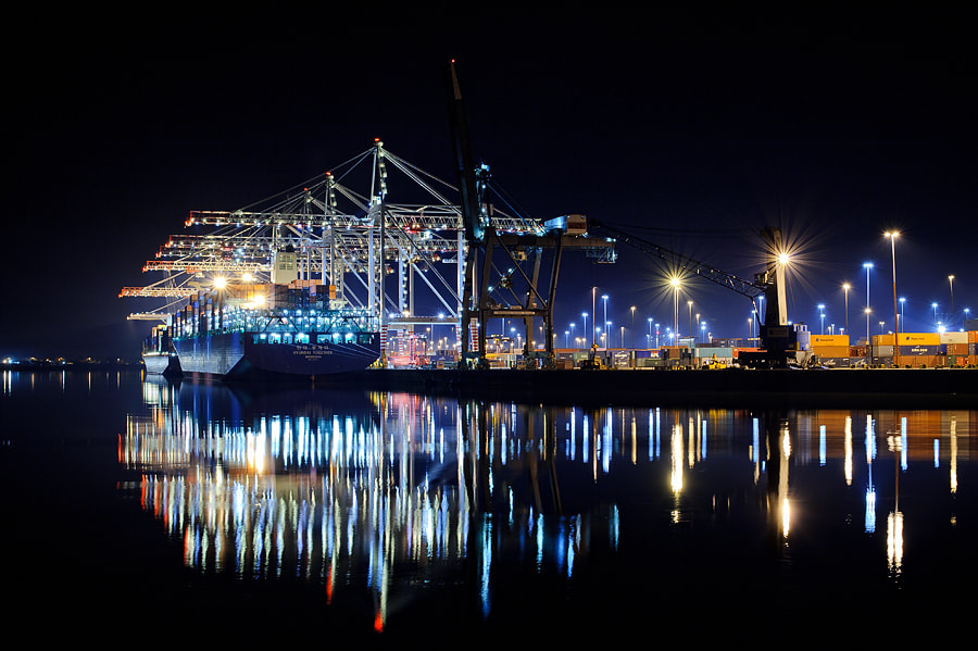 Photograph Southampton Container Port at Night by Jools Gowans on 500px
