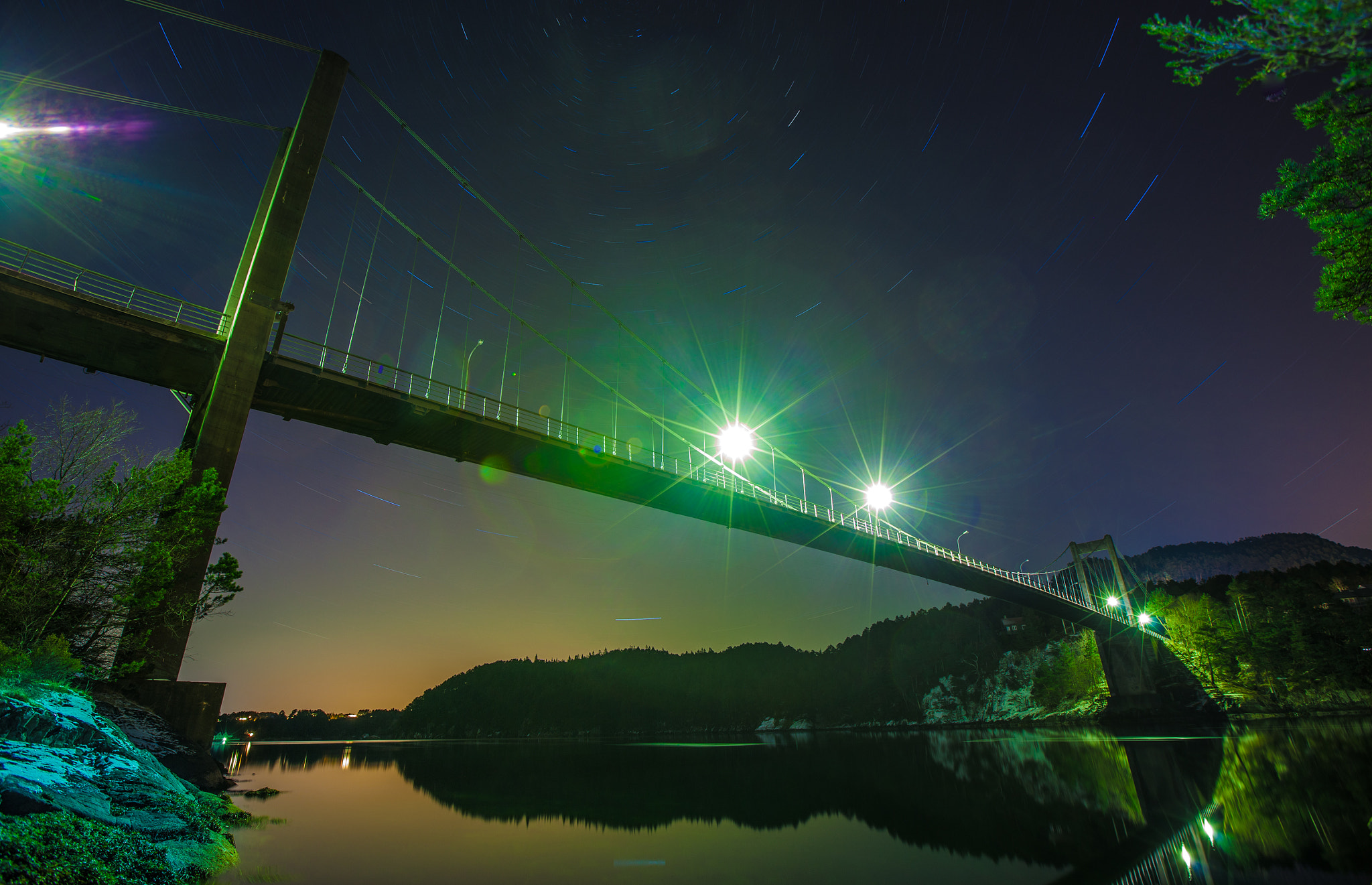 Photograph Bridge in aurora light by Bjarte Haugland on 500px