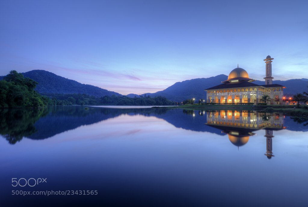 Photograph Blue hour at Darul Quran Mosque by Muhammad Khasif on 500px