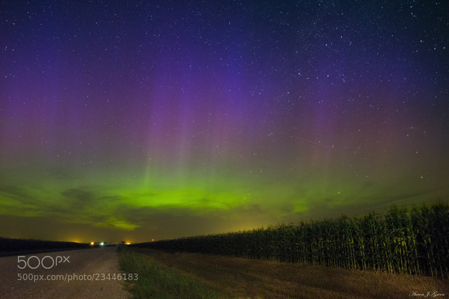 Road to Nowhere... Northern Lights edition  by Aaron J. Groen (AaronGroen)) on 500px.com