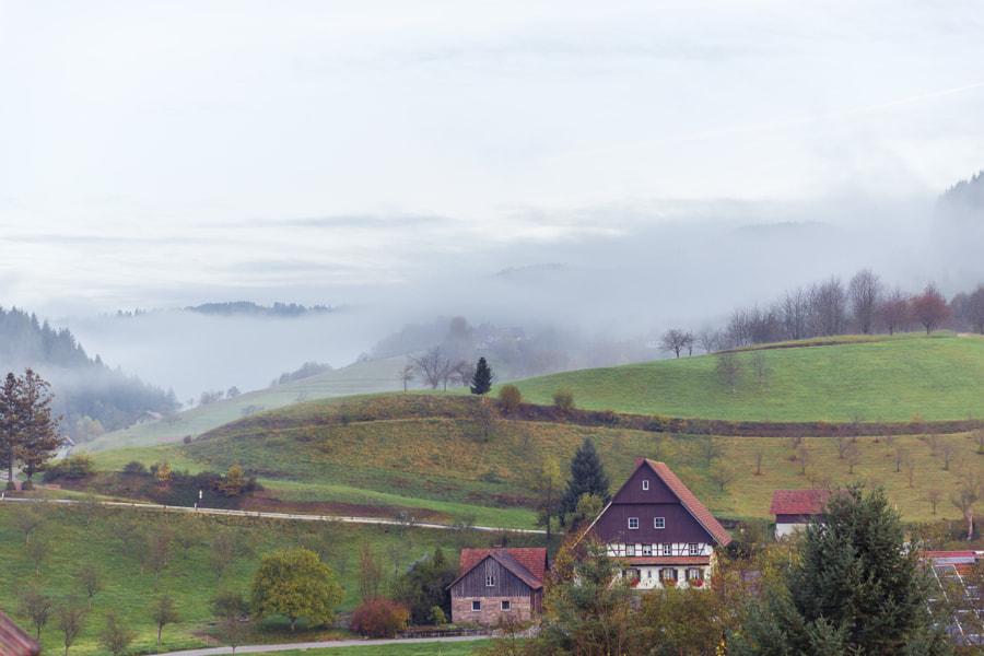 Rainy day in Seebach, Baden-Württenberg, Germany