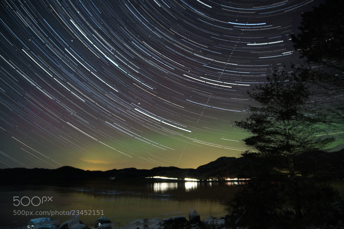 Photograph startrail, and Northern light by Magnus Østebrød on 500px