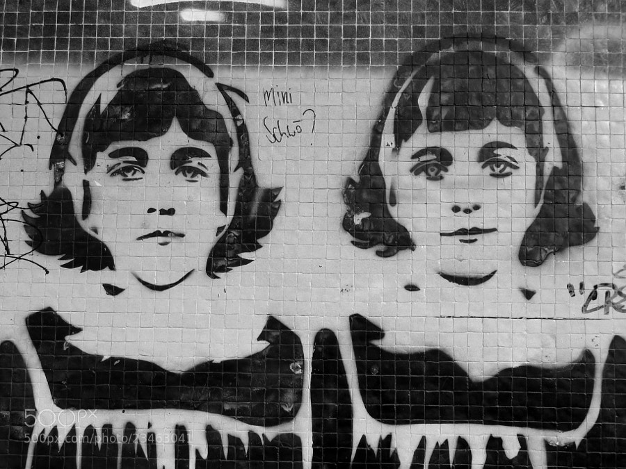 Photograph Diane Arbus Twins Graffiti by Sibylle Schauer on 500px