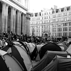 St Pauls surrounded by tents