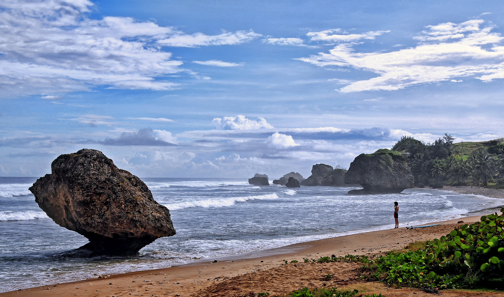 Photograph Alone at Bathsheba by Jeff Clow on 500px