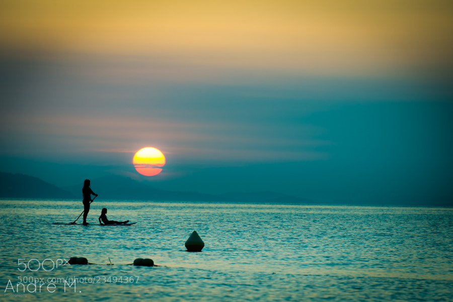 Photograph Sunset Paddle by André Möller on 500px