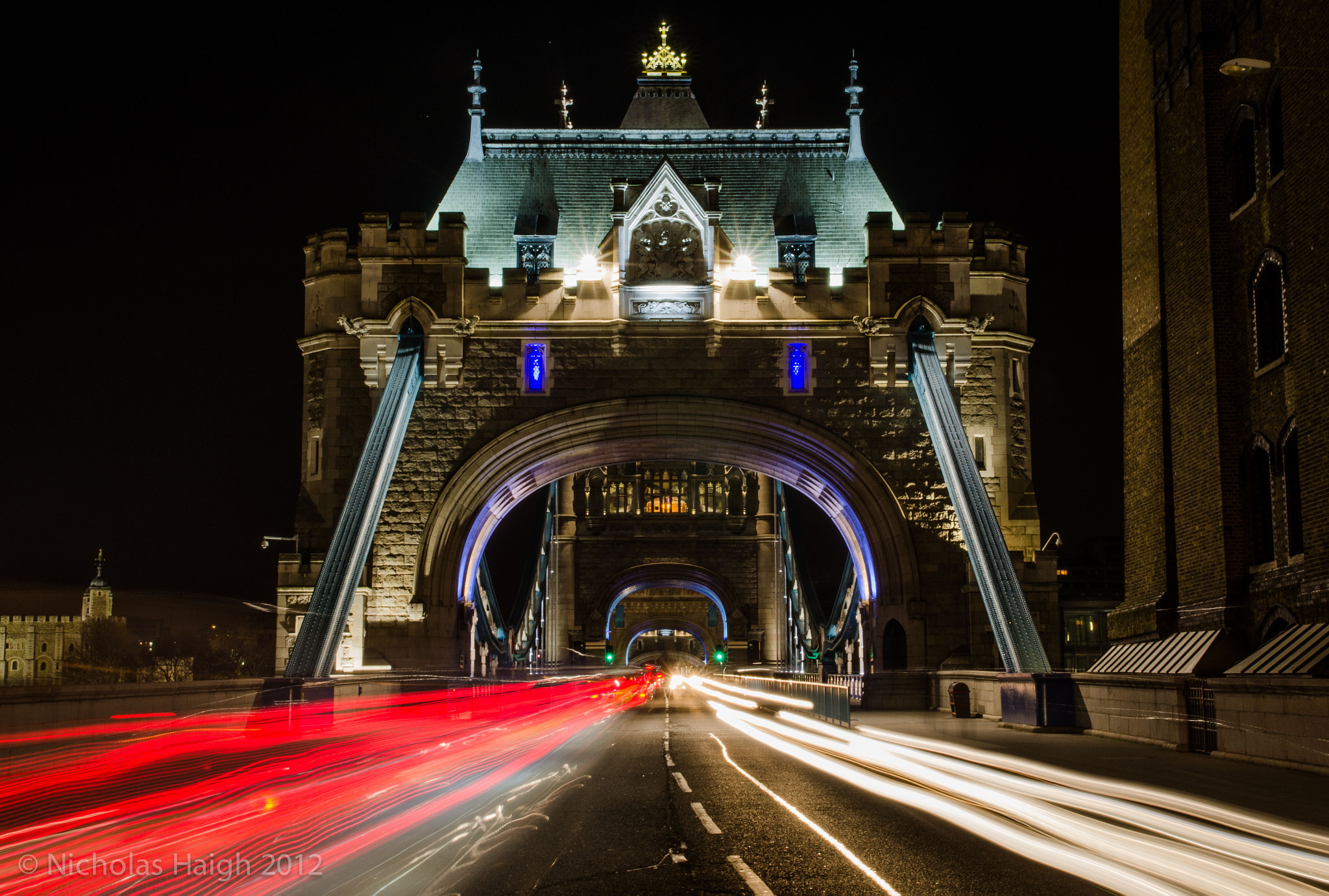 Photograph Tower Bridge Car Trails by Nick Haigh on 500px
