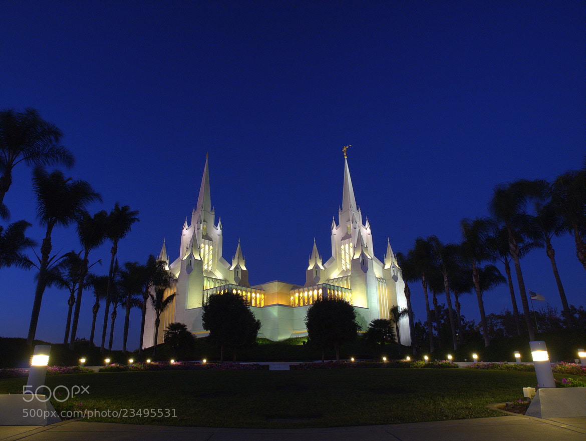 Photograph Mormon Temple At Blue  by Nam Hoang on 500px