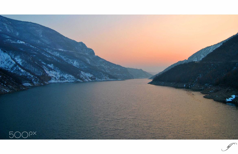 Photograph Cold Winter Sunset by Burim Fejsko on 500px