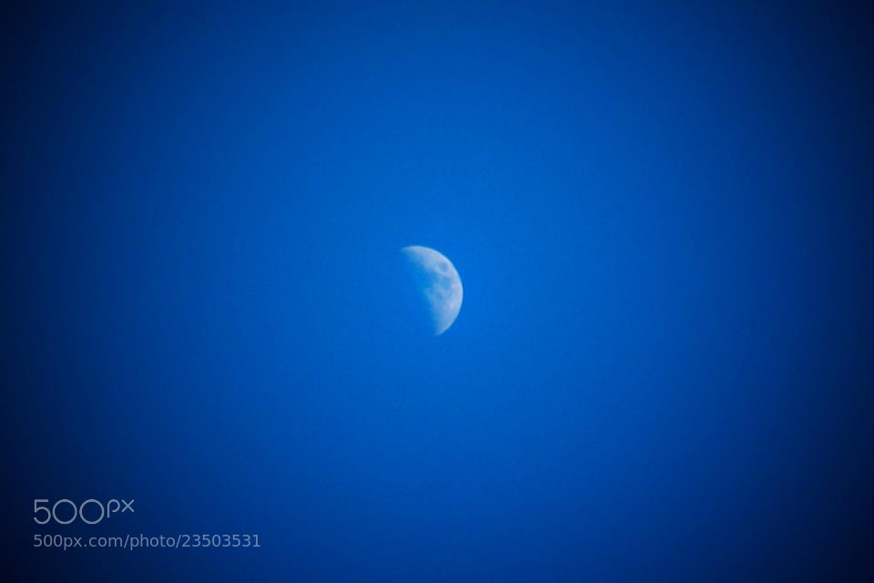 Photograph Day Moon by Julie Lord on 500px