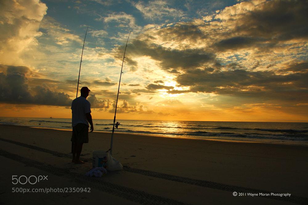 Photograph Fishing Carolina Beach at Sunrise by Wayne Moran on 500px