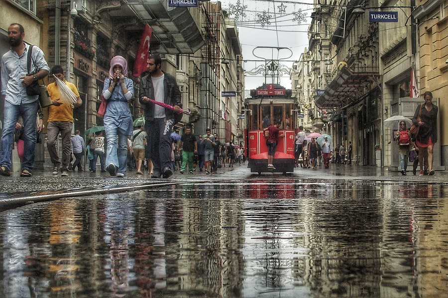 rainy street, автор — e&e photography на 500px.com