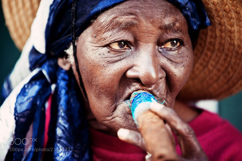 Photograph old woman smoking cigar, Havana, Cuba, 2012 by Virginie Fréchette on 500px