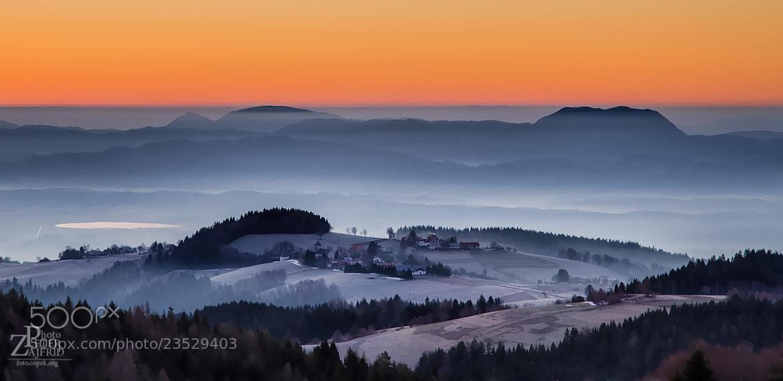 Photograph Misty hills by Peter Zajfrid on 500px