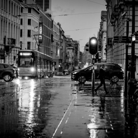 Brussels under the rain