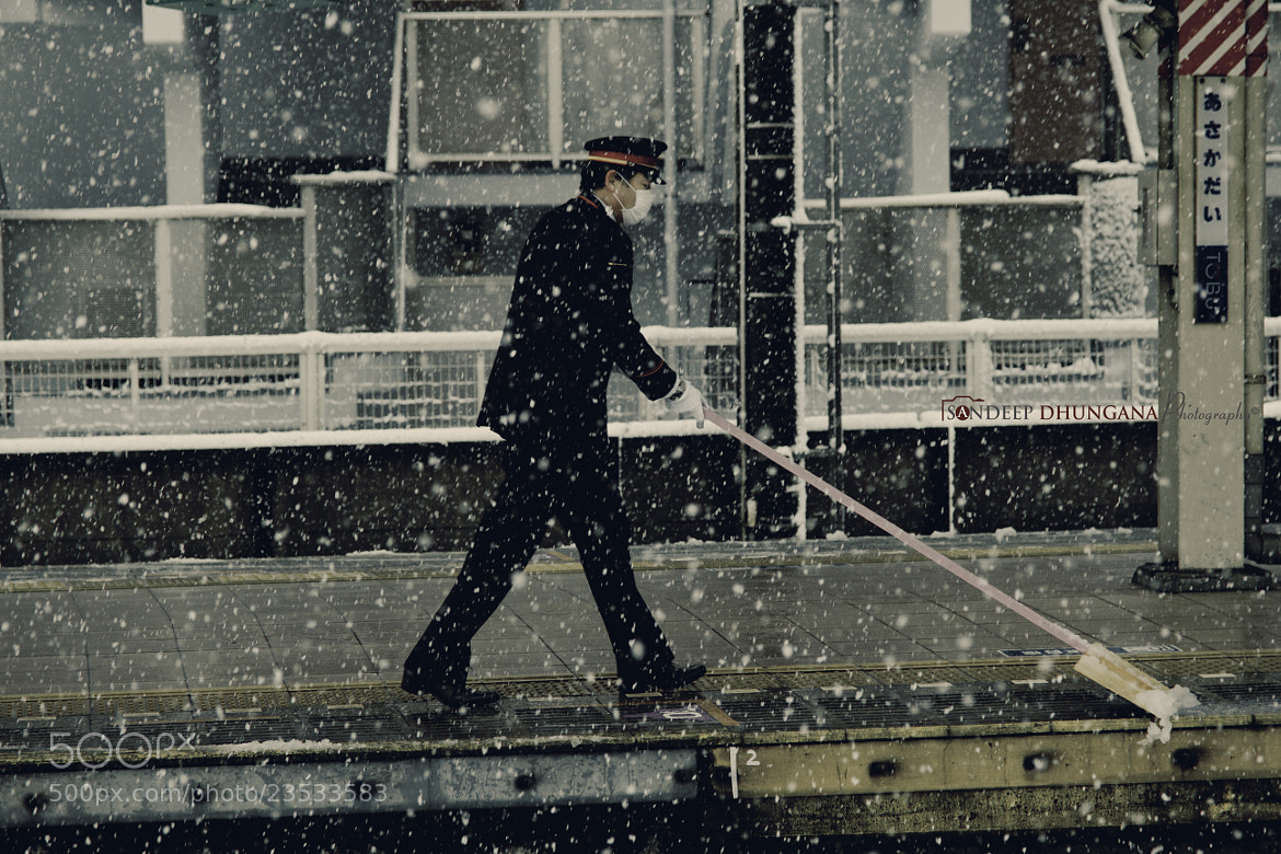 Photograph Snow & Station Employee by SANDEEP DHUNGANA on 500px