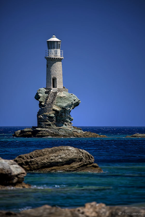 Photograph Andros' lighthouse by Antonis Lemonakis on 500px