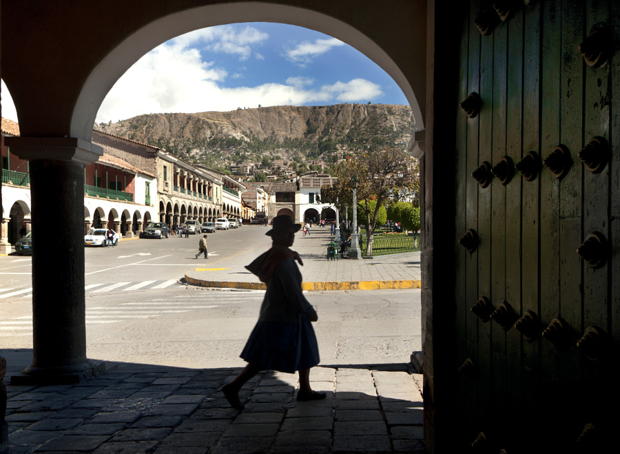 Ayacucho Main square (or lady's silhouette) by Oscar Gomez on 500px.com