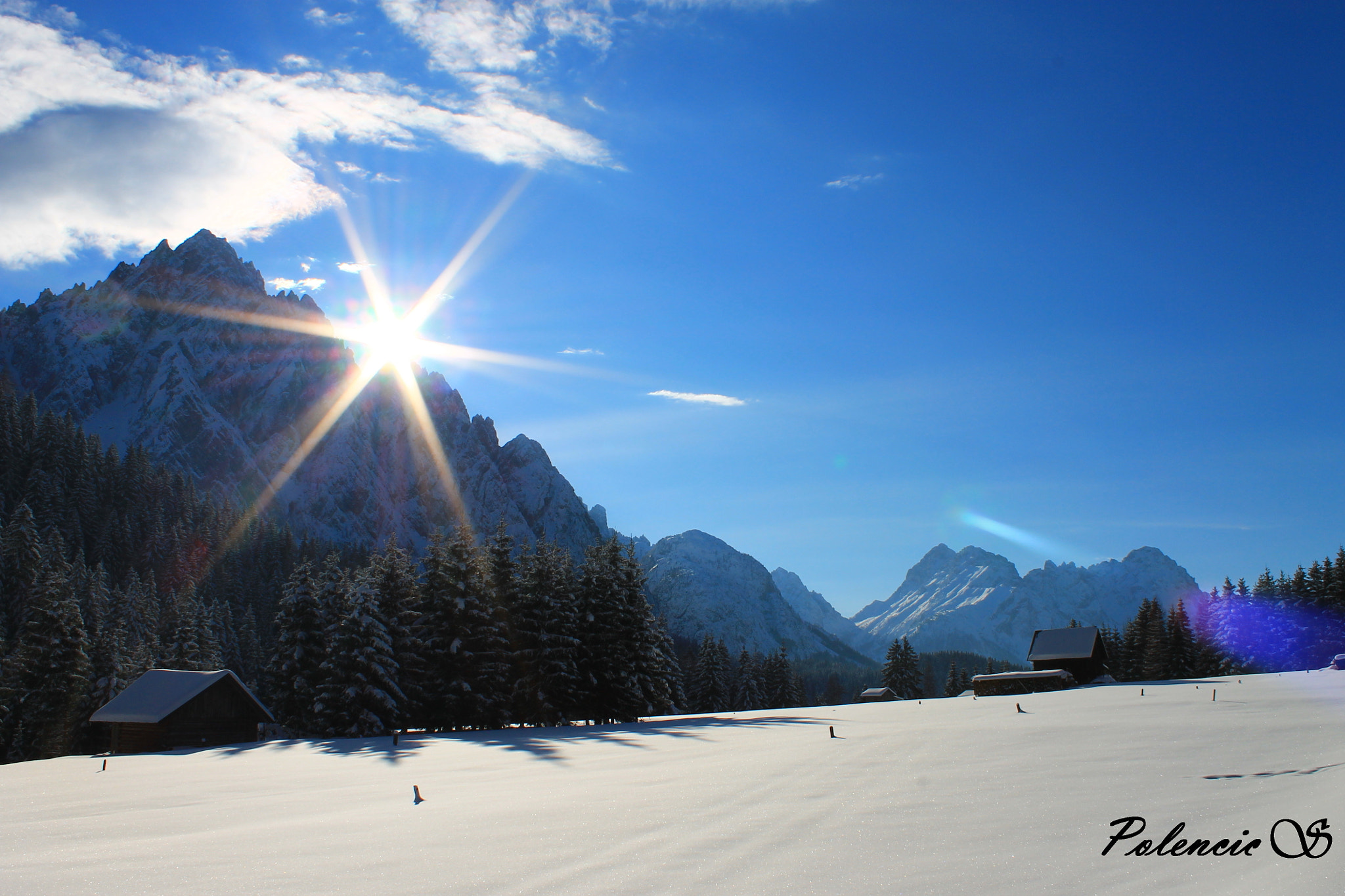 Photograph Snow, sun and tranqulity by Silvia Polencic on 500px