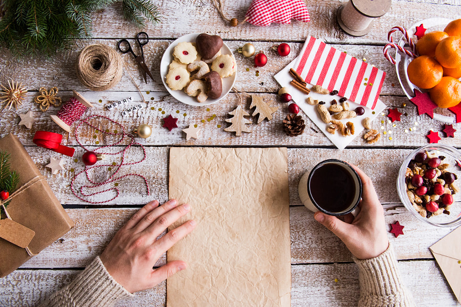 Christmas composition on a wooden background. by Jozef Polc on 500px.com