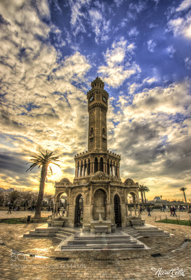 Photograph izmir clock tower HDR by Necat ÇETİN on 500px