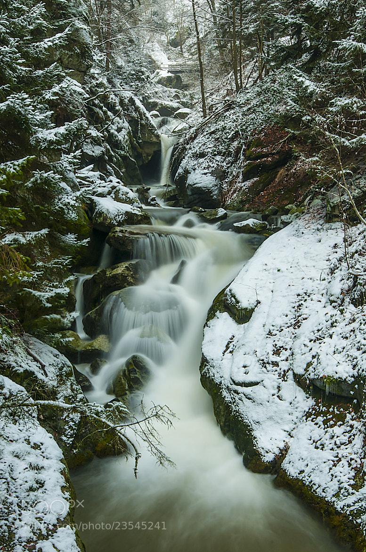 Photograph Stillensteinklamm Wasserfall im Winter by Leo Pöcksteiner on 500px