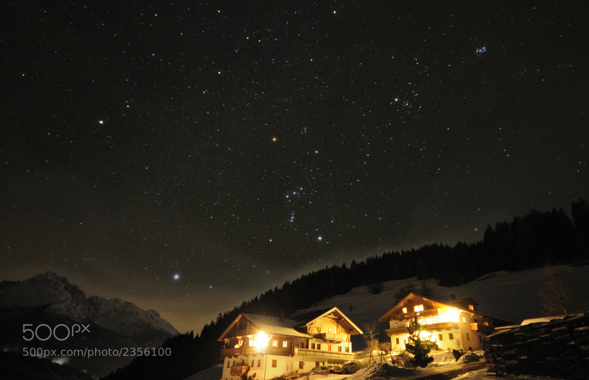 Photograph Sud Tirolo winter Night by Giuliano Boccardi on 500px