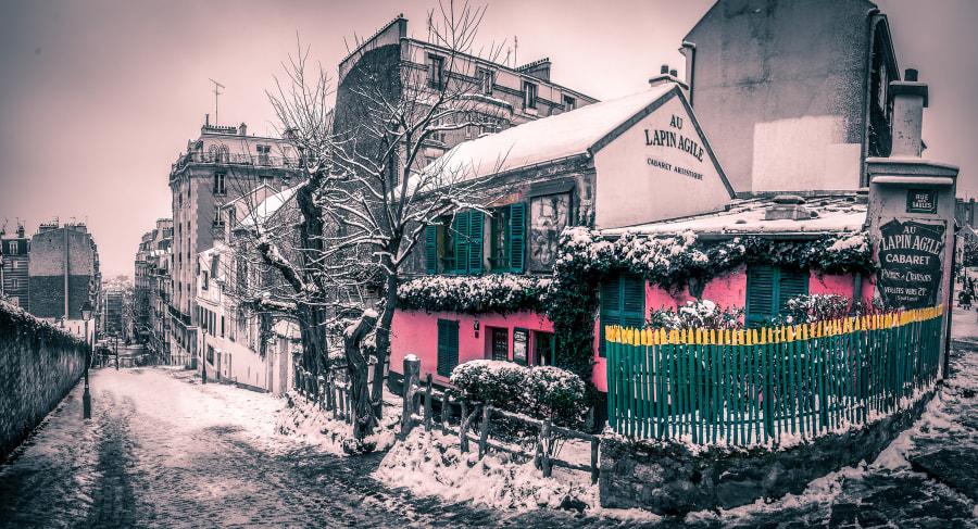Paris in the snow - Lapin Agile