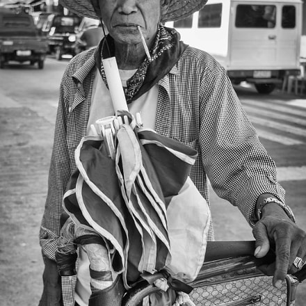 portrait of a man at the market