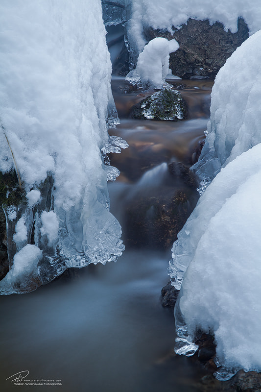 Photograph Icy creek by Florian Warnecke on 500px