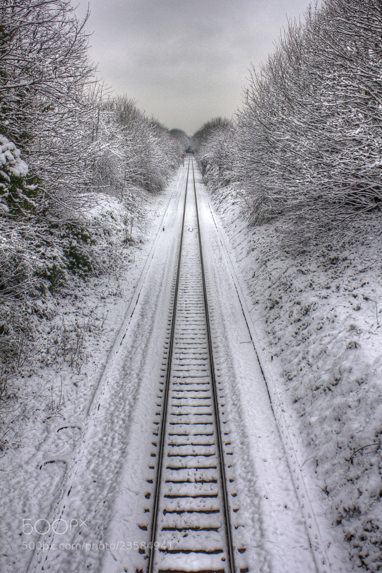 Photograph Snow on the tracks by Pete Griffiths on 500px
