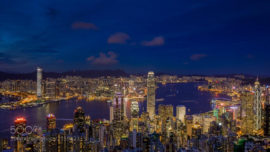 香港维港夜景