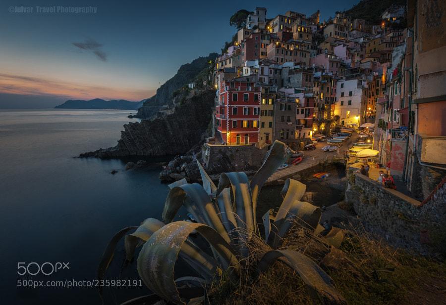 Nightfall on Riomaggiore