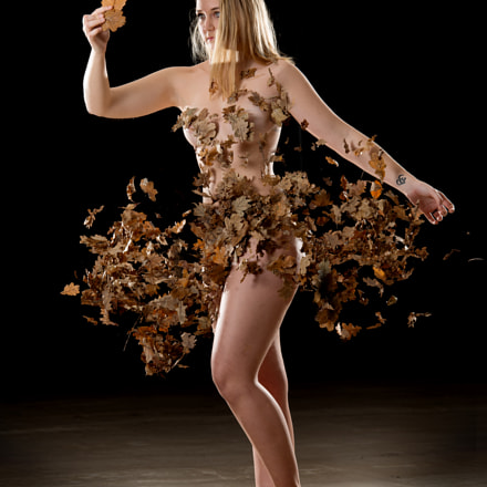 Dress of autumn leaves