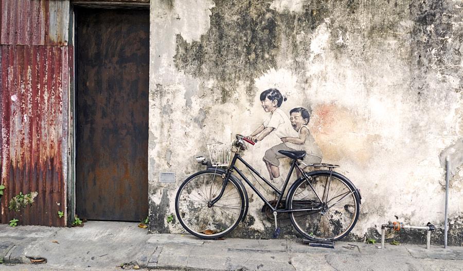 Little children on bike by Karan Malik on 500px.com
