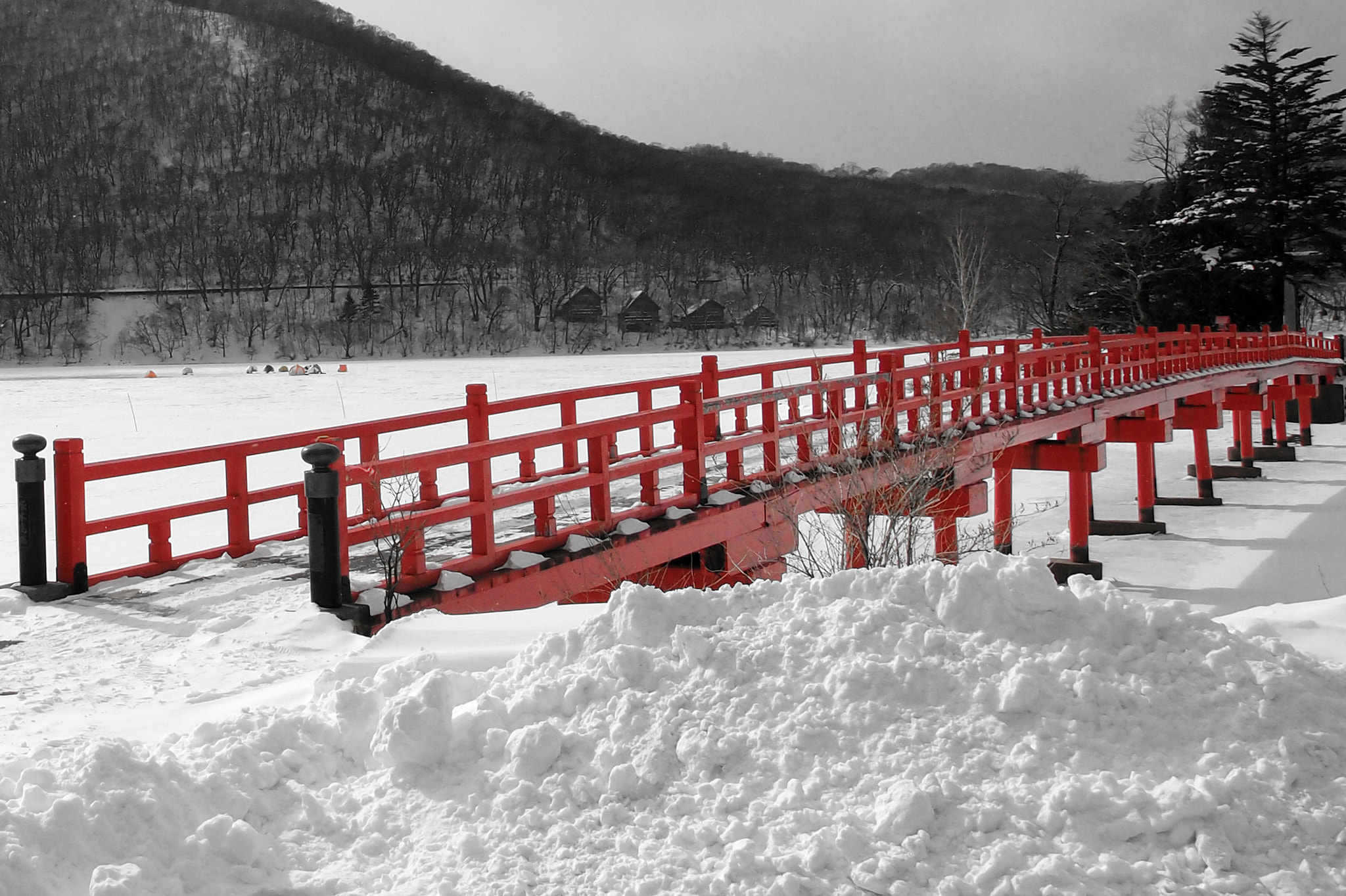 Photograph bridge on ice by Shingo .N on 500px