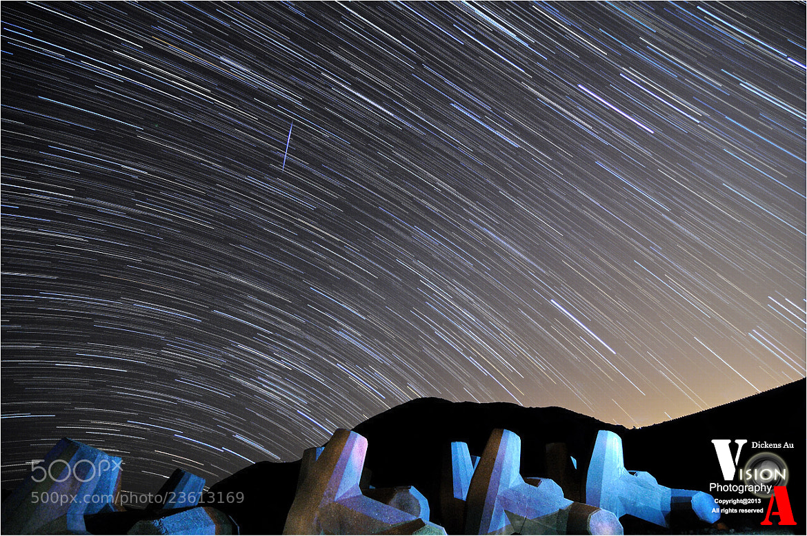 Photograph Hong Kong Startrail with Geminids Meteor by Dickens Au on 500px
