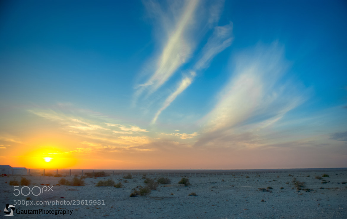 Photograph Sunset in Zubarah town, Qatar by Gautam Pisapati on 500px