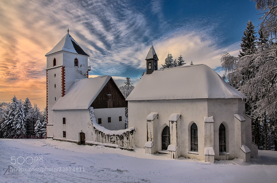 Photograph Snowed in church by Peter Zajfrid on 500px