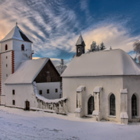 Snowed in church by Peter Zajfrid (Saintek)) on 500px.com