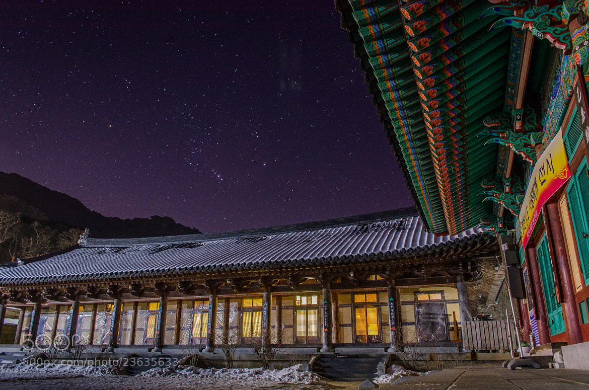 Photograph Korean Temple at Night by Brad Tombers on 500px