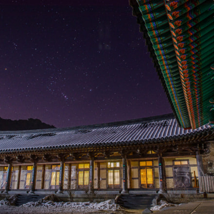 Korean Temple at Night