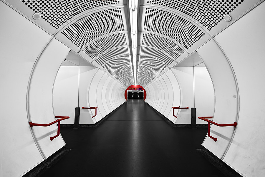 White tube with red dot by Ronny Huth on 500px.com