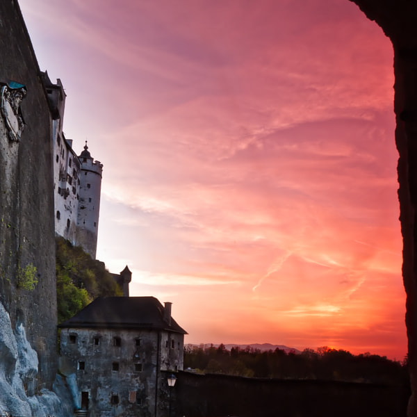 Hohensalzburg at sunset