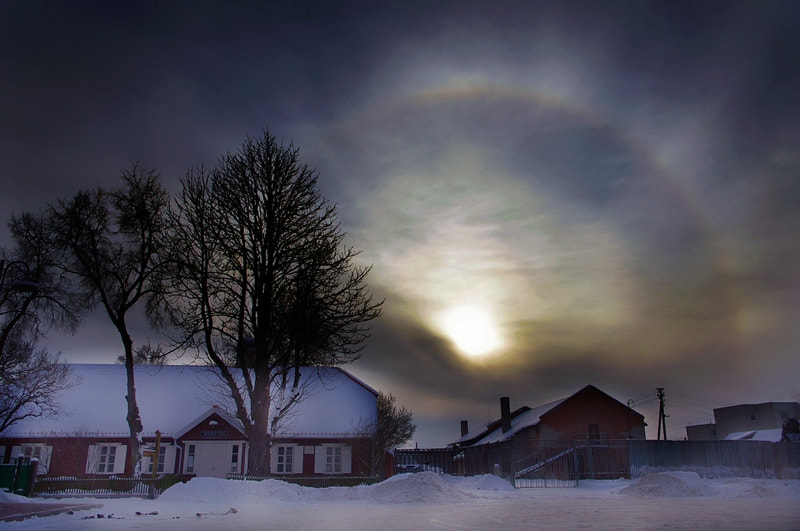 Photograph solar halo by Alma Kerpauskiene on 500px